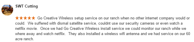 Residential Wireless Internet Testimonial