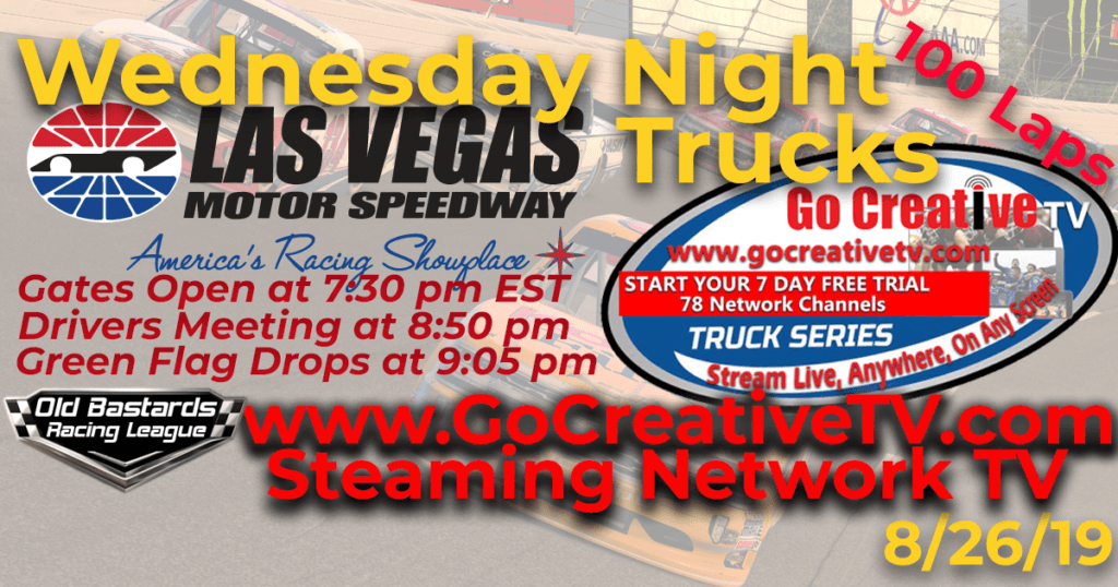 ESPN Nascar Go Creative Streaming TV Truck Series Race at Las Vegas Motor Speedway